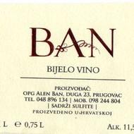 "Bijelo vino Cuvée ""Ban"""