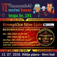 ˝VII NOVOSADSKI NOĆNI BAZAR˝, petak, 13.07.2018. od 18 do 24h. Riblja pijaca