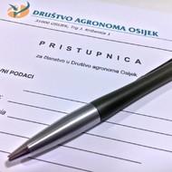 Online pristupnica za Društvo agronoma Osijek