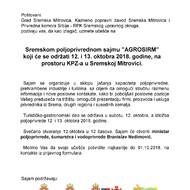 SAJAM POLjOPRIVREDE, Sremska Mitrovica 12.10.2018. od 10 - 19h.